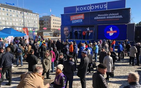 Kokoomuksen superlauantai Joensuun torilla eduskuntavaaleissa 2019